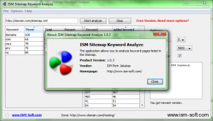 ISM Sitemap Keyword Analyzer - about